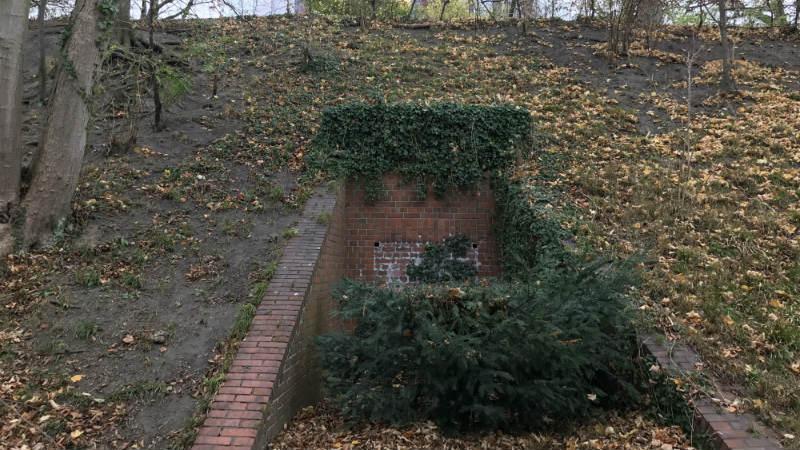 Zugang Mitte Bunker Planten un Blomen